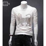 新作 ロンT メンズ Tシャツ トップス プリント 男性 人気 長袖 格安 おしゃれ 春先 薄着 fmns049