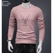 新作 ロンT メンズ Tシャツ トップス プリント 男性 人気 長袖 格安 おしゃれ 春先 薄着 fmns044