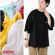 【19SS新作】オーバーシルエットUSAコットンピスネーム付きポケットTシャツ