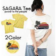 【19SS新作】【実績商品】SUNSETサガラ刺繍Tシャツ