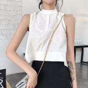 第1 番 ピープル ホーム 女性服 ノースリーブ アウトドア フリル 露 短いスタイル