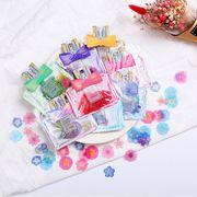 格安☆文房具紙物シール★貼紙★手帳素材★ピンキーカラー★フラワー小花40枚セット
