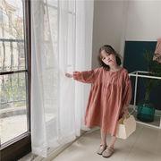 【新作限定】韓国ファッション/流行のキッズ服/子供服/ゆったりする/女の子/おしゃれな/長袖/ワンビース