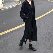 韓国風 春夏季 新しいデザイン ブラック 中長スタイル 寒い 薄い 風 スーツの襟 シン