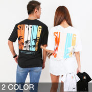 【2019新作】 surfingデザイン Tシャツ メンズ レディース サーフ ストリート 夏 夏服 ペアルック