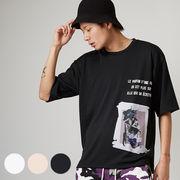 【2019春夏新作】メンズ デジタルプリント ポンチ BIG 半袖 Tシャツ