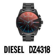 【まとめ割10%OFF】DIESEL ディーゼル 腕時計 DZ4318 メガチーフ クロノグラフ / ブラック ステンレス