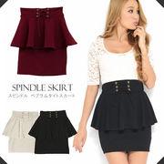 スピンドル ペプラムタイトスカート