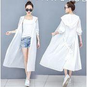 【日焼け防止シャツ S-3XL】ファッション/人気トップス♪アカ/ホワイト2色展開◆
