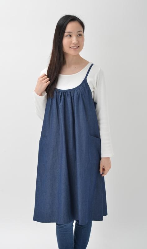 【即納】デニムキャミドレス