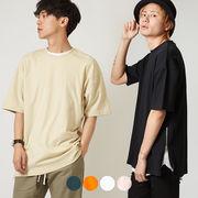 【2019春夏新作】メンズ サイドZIP 綿ポンチ BIG 半袖 Tシャツ