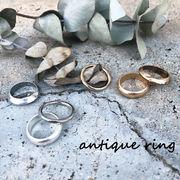 アンティーク調3連リング 指輪 ヴィンテージ風リング ゴールド シルバー