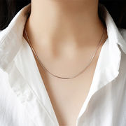 s925 sterling silver silvernecklace シルバーネックレス スネークチェーンネックレス ◆メール便対応可◆