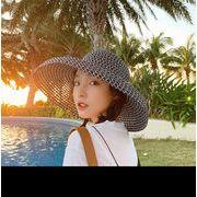 帽子 ハット レディース 夏 日焼け止め つば広帽子 バケットハット レトロ オシャレ ファッション