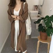 大人の魅力 上品 女性らしい  韓国ファッション  CHIC気質 ゆったり ワイルド ロング シャツカーディガン