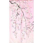 のれん 85x150cm「しだれ桜」【日本製】和風 コスモ 目隠し