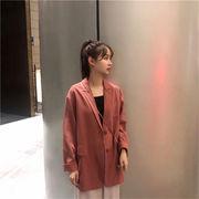 女性美up 韓国ファッション 高級素材  ジャケット!カジュアルスーツ 通勤 OL 卒業式 入学式