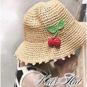 vnsh000541◆5000以上【送料無料】◆キッズ麦わら帽子★日除け帽★折りたたみ