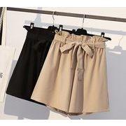 【大きいサイズXL-5XL】ファッション半ズボン♪ブラック/アンズ2色展開◆