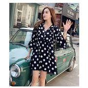 春夏新商品730701 大きいサイズ ドレス 婦人服 日韓風 ワンピースLL 3L 4L