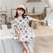 【韓国ファッション】  ワンピース 子供服 キッズ 児童 夏 半袖 韓国 ファッション