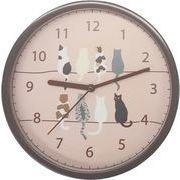 ツインネコ 掛け時計 E