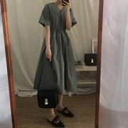 韓国 寒い 薄い 風 デイ タイプ 怠惰な 随 意 ルース 襟 単一色 中長スタイル 半