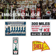 Emboss Metal Sign