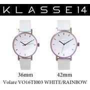 【まとめ割10%OFF】KLASSE14 クラス14 腕時計 VOLARE VO16TI003 36mm 42mm レインボー ホワイトレザー