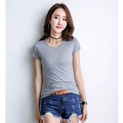 【大きいサイズS-3XL】ファッショントップス♪ホワイト/ライトグレー/ブラック3色展開◆