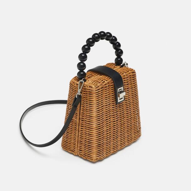 レディースバッグ 夏 編むバッグ 手提げかご バッグ 手作り 農園風 ファッション雑貨