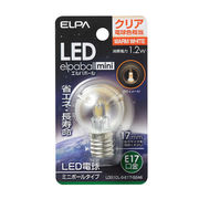 ELPA G30型LED口金E17クリア電球色
