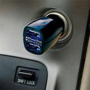 カシムラ 車載用DC充電器 DC-2.1A-USB 2ポート ブラック