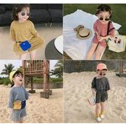 子供服 夏 セットアップ ホワイト Tシャツ+パンツ 男の子  女の子 2点セット カジュアル系