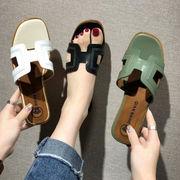 新作サンダル H型 シューズ レディース ファッション 個性的 スリッパ 韓国