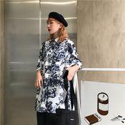 春夏新商730786  大きいサイズ 韓国 レディース ファッション ポロシャツ ワンピース  LL-4L