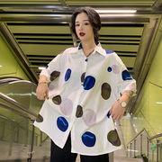 春夏新商730779  大きいサイズ 韓国 レディース ファッション ポロシャツ ワンピース  LL-4L