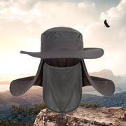 日よけハット 帽子 アドベンチャーハット サファリハット フェイスカバー ネックカバー 男女兼用