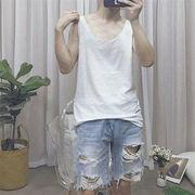 雑志で绍介されました  竹綿 通気性  アンダーシャツ   ノースリーブ Tシャツ ファッション トップス
