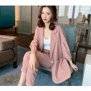 【大きいサイズL-4XL】ファッション/上下セットトップス♪ピンク/アンズ2色展開◆