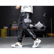【大きいサイズM-5XL】ファッション/人気パンツ♪ライトグレー/ブラック2色展開◆