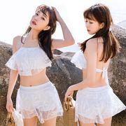 【大人気新品】 ビキニ 水着 ビーチビキニ レディース 三角 3点セット ファッション