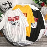 【ファッション夏新作】 Tシャツ 半袖Tシャツ メンズ クルーネック 韓国ファッション Oversize