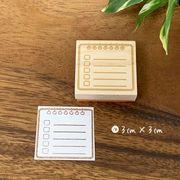 チェックボード ハンコ (3cm×3cm)買い物リスト・課題リスト・ハンドメイドハンコ