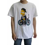 【即納】★バート プリントTシャツ★2色 白 黒 大きいサイズ ストリート