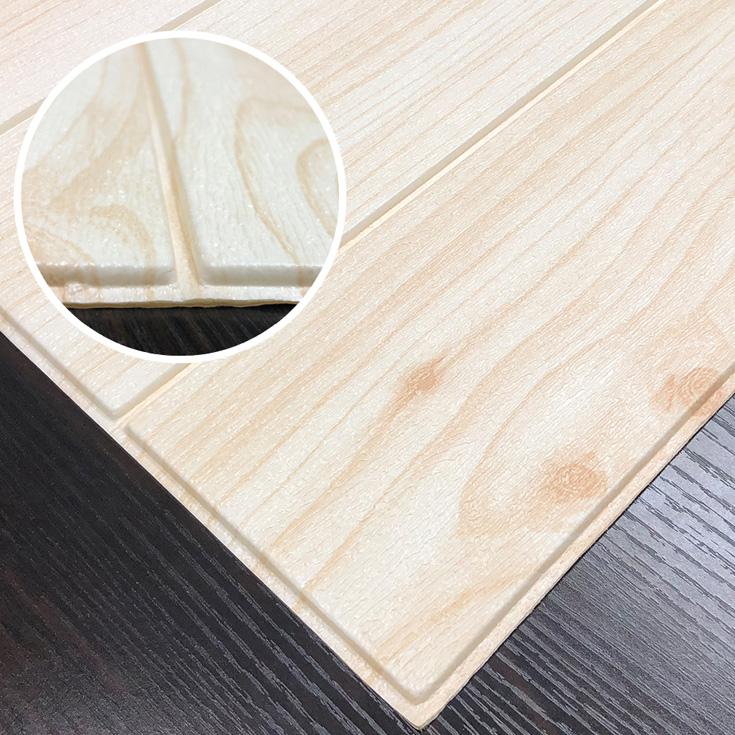 クッションシート リアルな木目立体3D壁紙 木目柄 FWD1  パインウッド 30枚組
