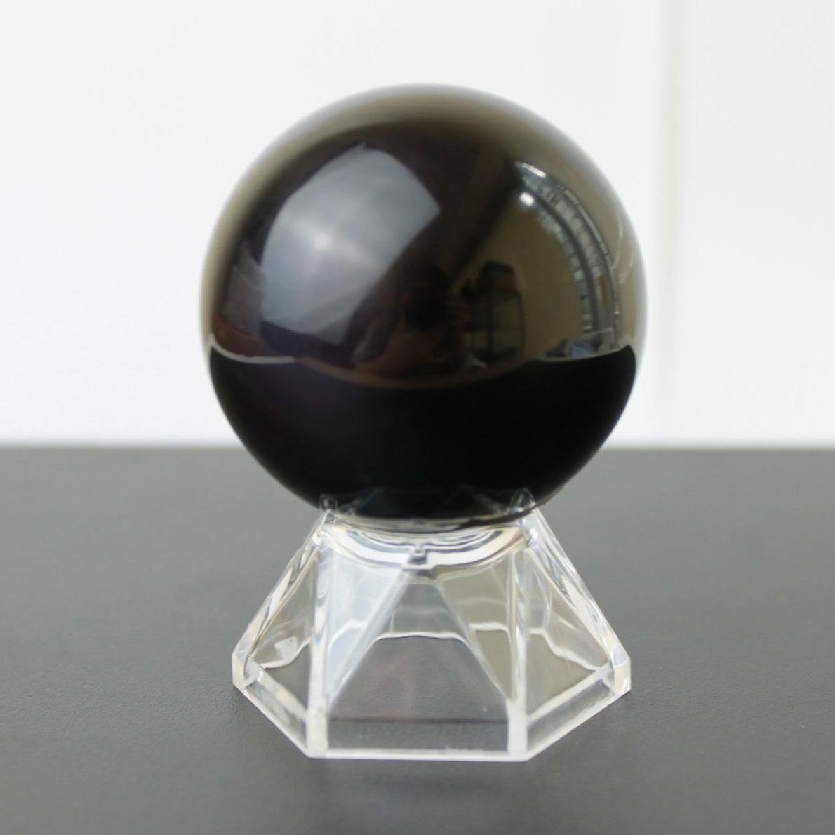 丸玉台 スフィア台座 ディスプレイ 透明プラスチックタイプ 小 品番:7754