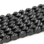 連 オニキス 4面Sライン 12mm*8mm  素材 パーツ ハンドメイド ビーズ  品番: 8316