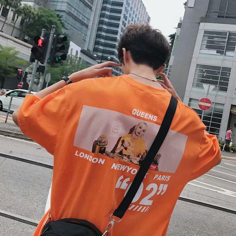 トップス メンズ カットソー Tシャツ 半袖 クルーネック シンプル カップル 春夏