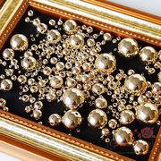 ゴールドメッキプラスチックビーズ 9サイズ  /beads629